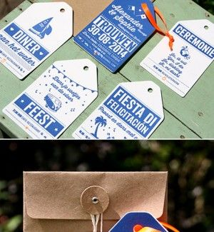 letterpers_letterpress_trouwkaart_alexander_sophie_hip_labels_blauw_oranje_bruine_envelop_ue
