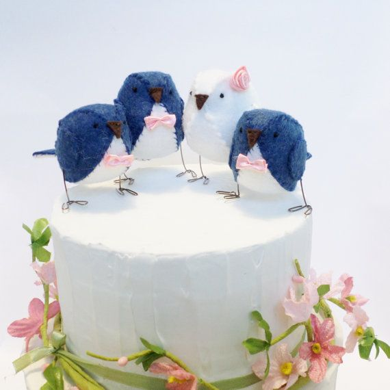 Family Wedding Cake Topper Bride Groom And Two Children Familywedding Weddingcaketopper