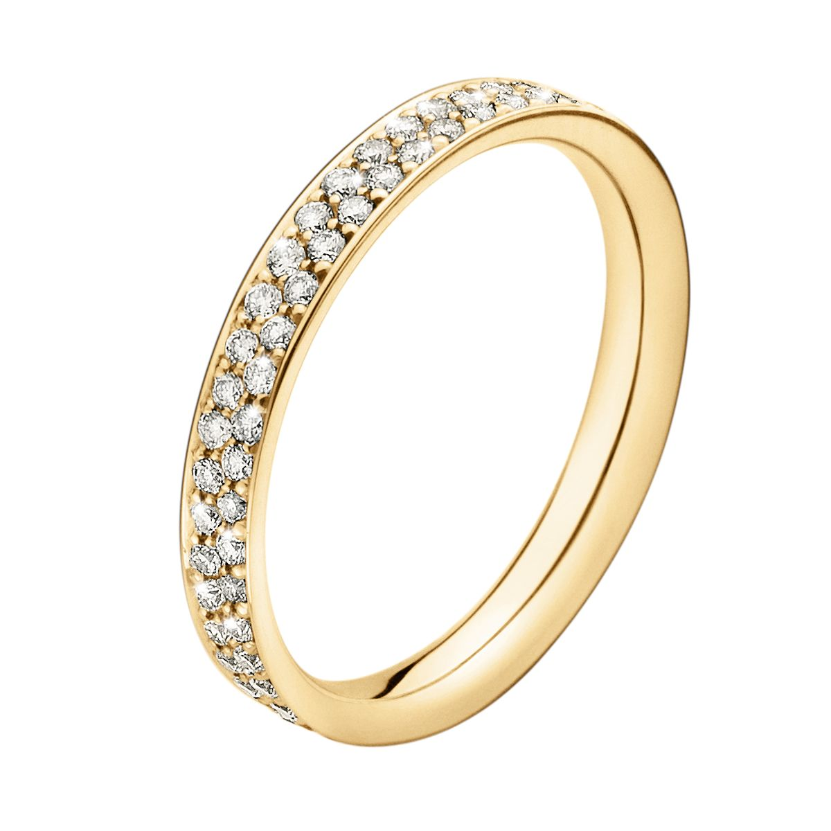 Georg Jensen Magic Ring - 18 kt. guld med pavéfattede brillianter - min  drømme vielsesring a9cd2caeb92fe