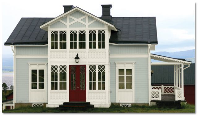 Sherwin Williams Comfort Gray And Alabaster Exterior House Paint