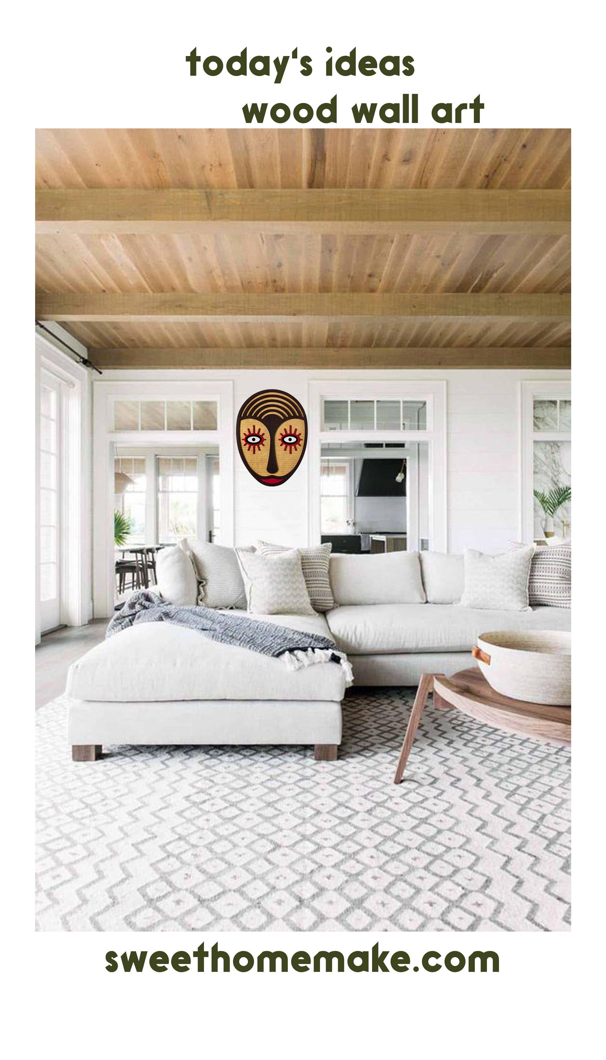 Boho Wall Art With Wooden Bohemian