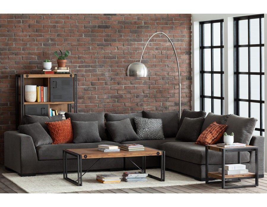 Cooper canap d 39 angle modulaire modular sectional sofa for Sofa modular gris