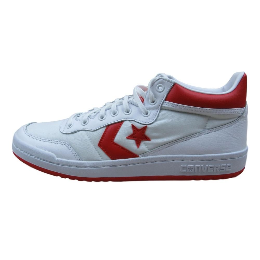 d3bda5b13b64 Converse Fastbreak 83 Mid Athletic Shoe Size 9 Mens White Red 155651C  Lunarlon  Converse  Athletic