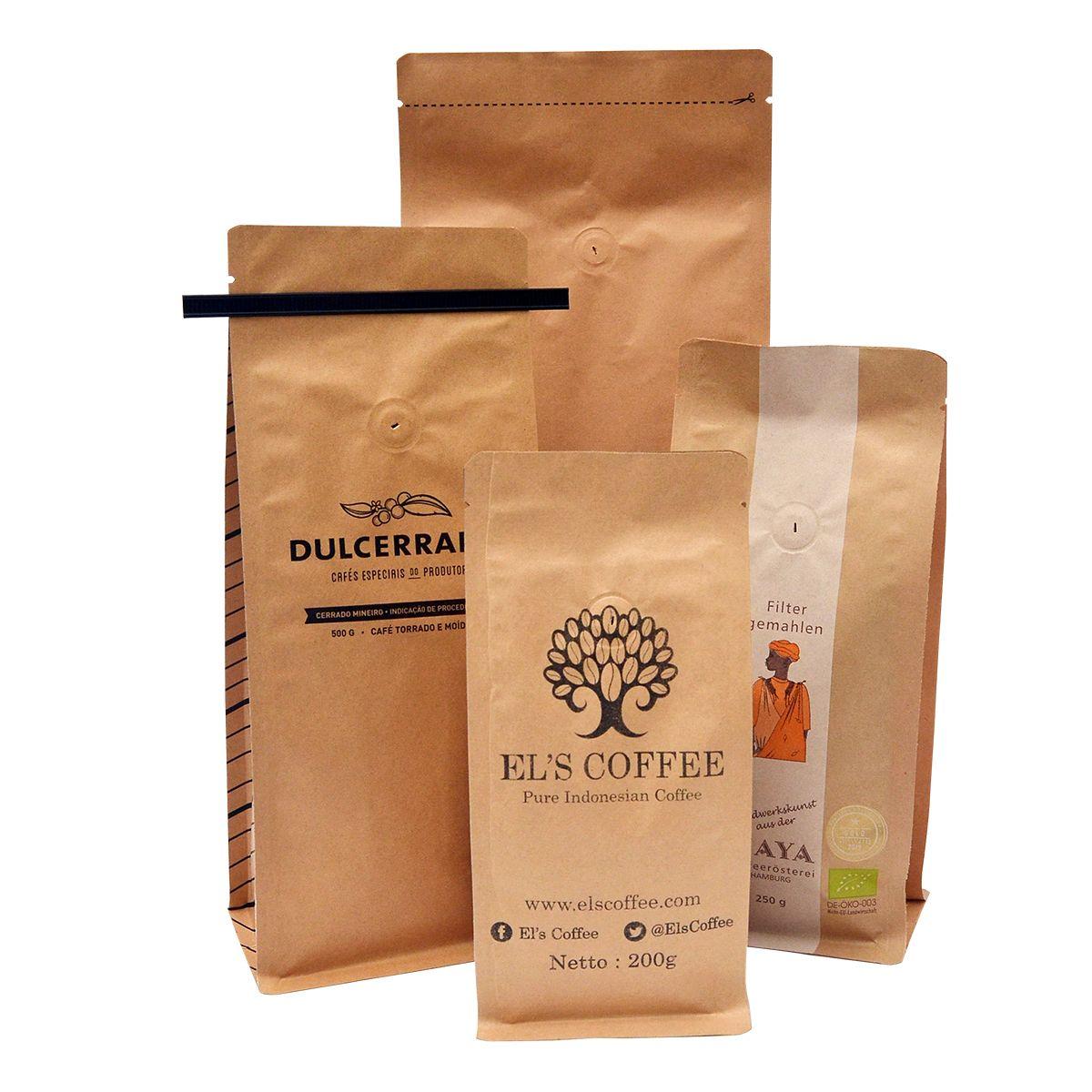 Customprinted Flat Bottom Bags Coffee Packaging Shochu Coffee