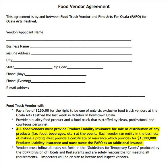 Catering Contract Sample Contract Template Event Planning