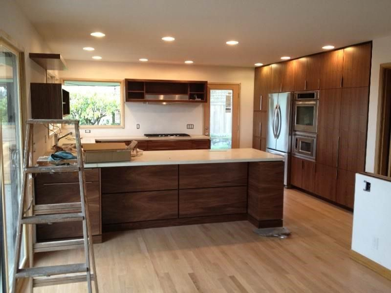 Natural Walnut Kitchen Cabinets Kitchen Walnut Kitchen