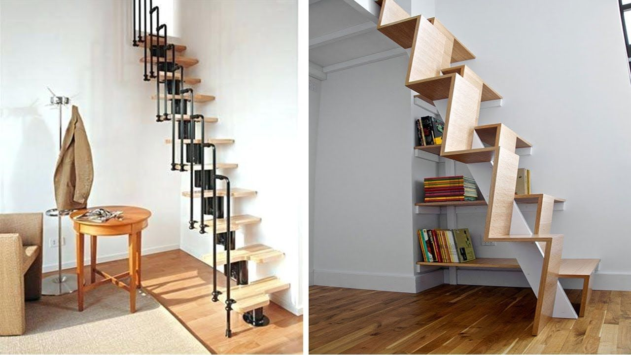 Best 50 Creative Stairs For Small Spaces With Images Staircase Design Small Space Stairs Small 400 x 300