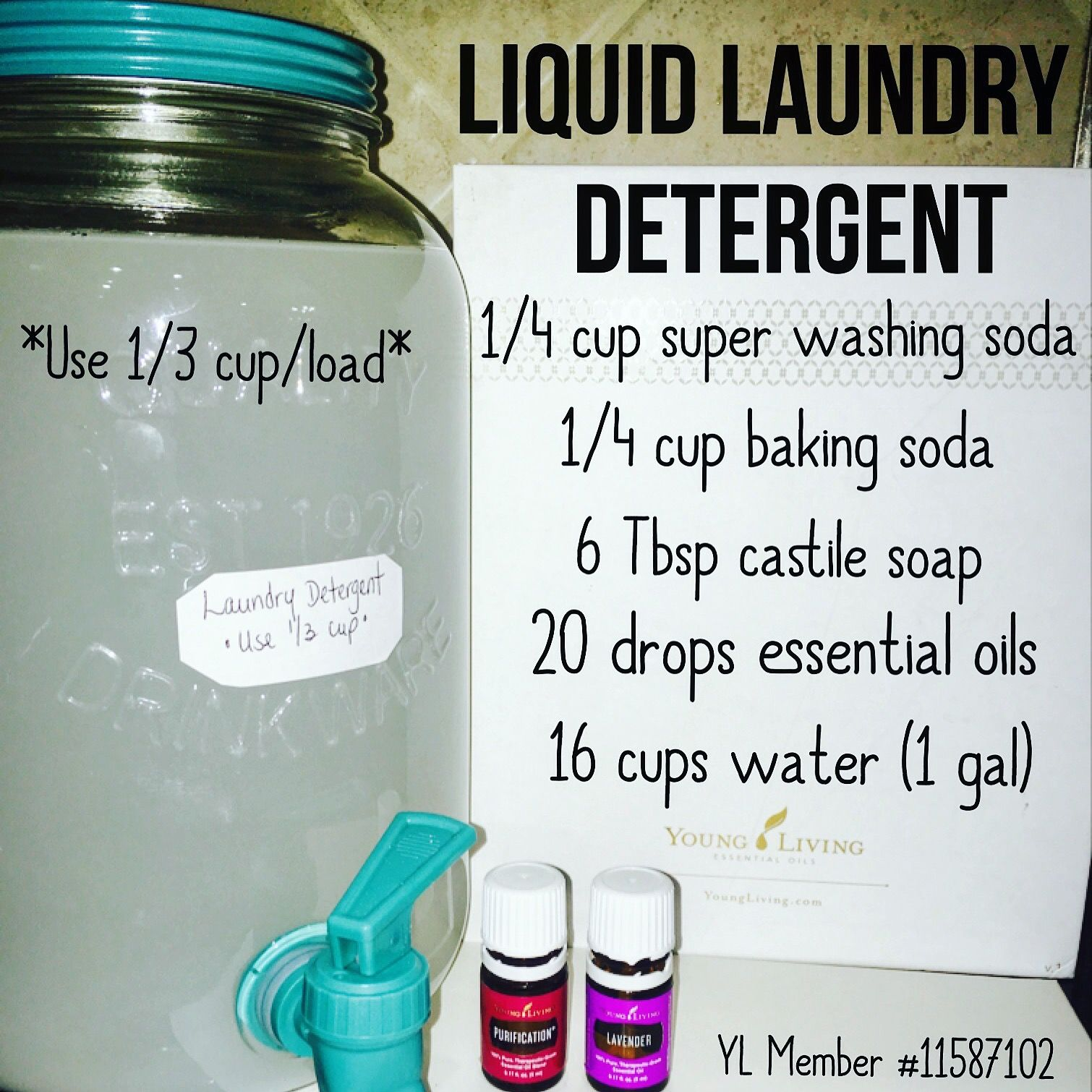 Harsh Chemicals Free Liquid Laundry Detergent Using Lavender And