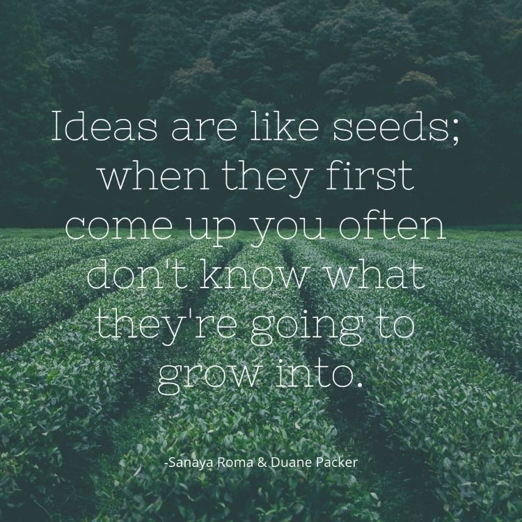 Ideas Are Like Seeds Seed Quotes Seeds Sign Quotes