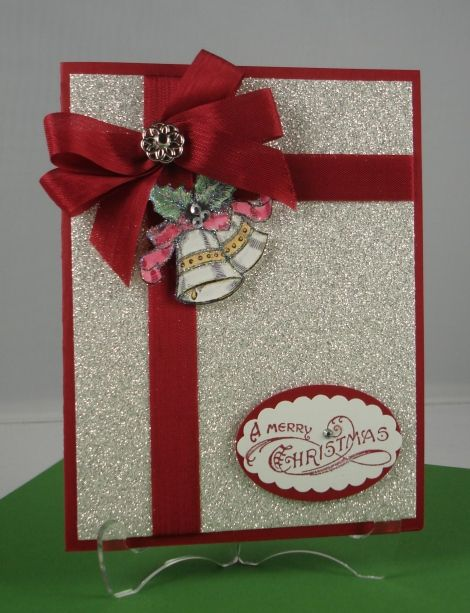 Everything Comes Together To Make This Simple Card Quite Lovely The Glitter Paper And