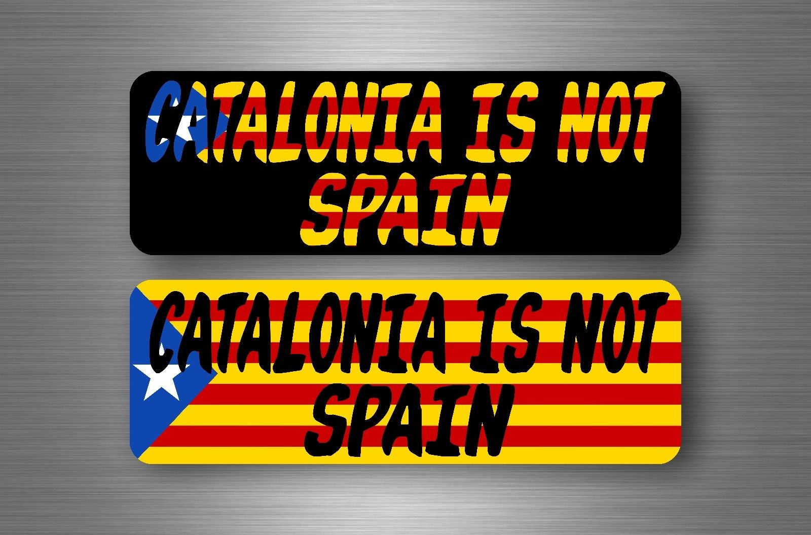2 Sticker flag catalonia catalunya catalan estrelada free independence not spain
