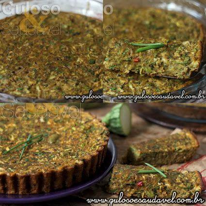 #BomDia! Bora fazer para o #almoço esta Quiche de Abobrinha Vegetariana é deliciosa, leve, nutritiva, #SemGlúten e #SemLactose!  #Receita aqui: http://www.gulosoesaudavel.com.br/2016/03/18/quiche-abobrinha-vegetariana/