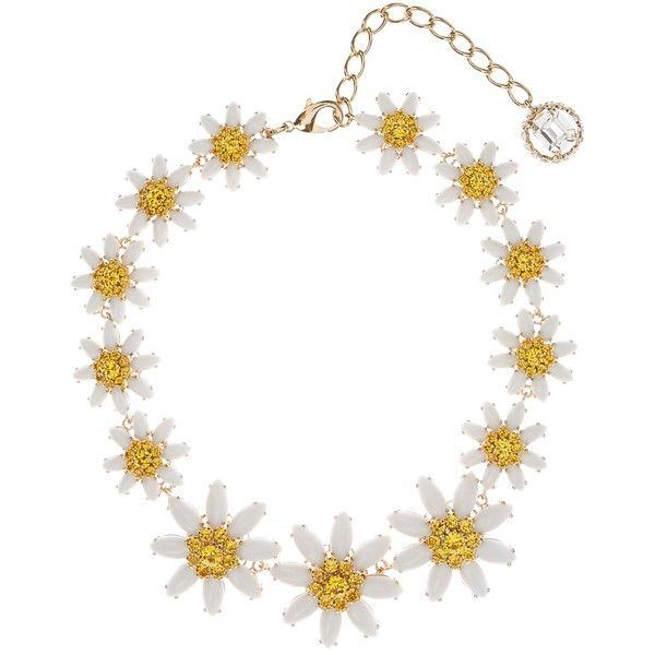 Dolce & Gabbana Embellished daisy necklace ($1,238) ❤ liked on Polyvore featuring jewelry, necklaces, gold multi, dolce&gabbana, sparkle jewelry, chain necklaces, chains jewelry and floral jewelry