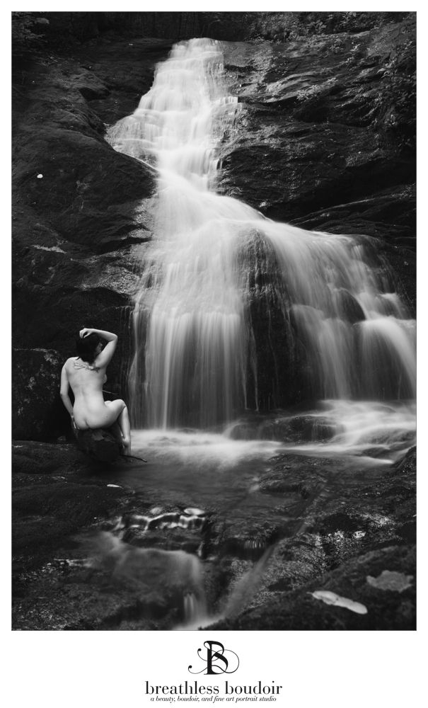 artistic nude waterfall