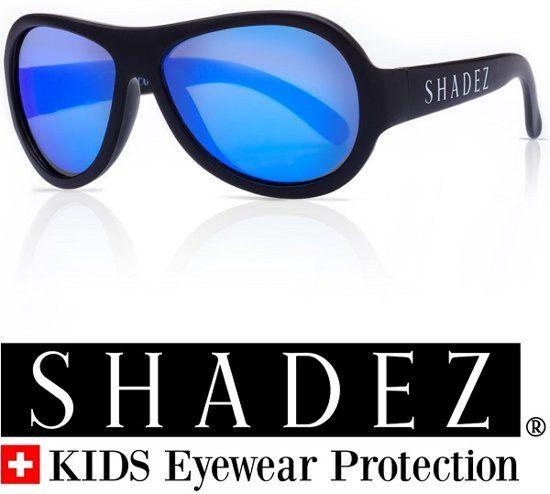 b4bee70d8a7f11 SHADEZ Black Blue Mirror - Onbreekbare baby zonnebril - Zwart met blauwe  spiegelglazen - Maat 0