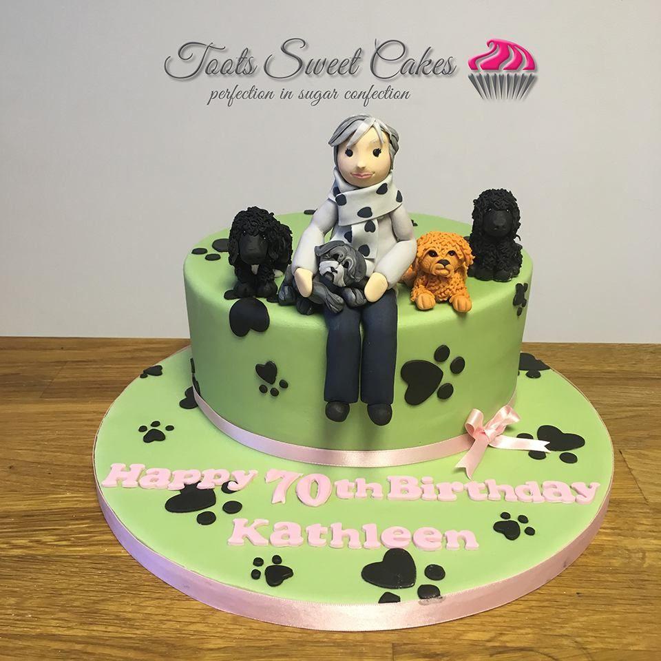 Dog Lovers 70th Birthday Cake 70th Birthday Cake