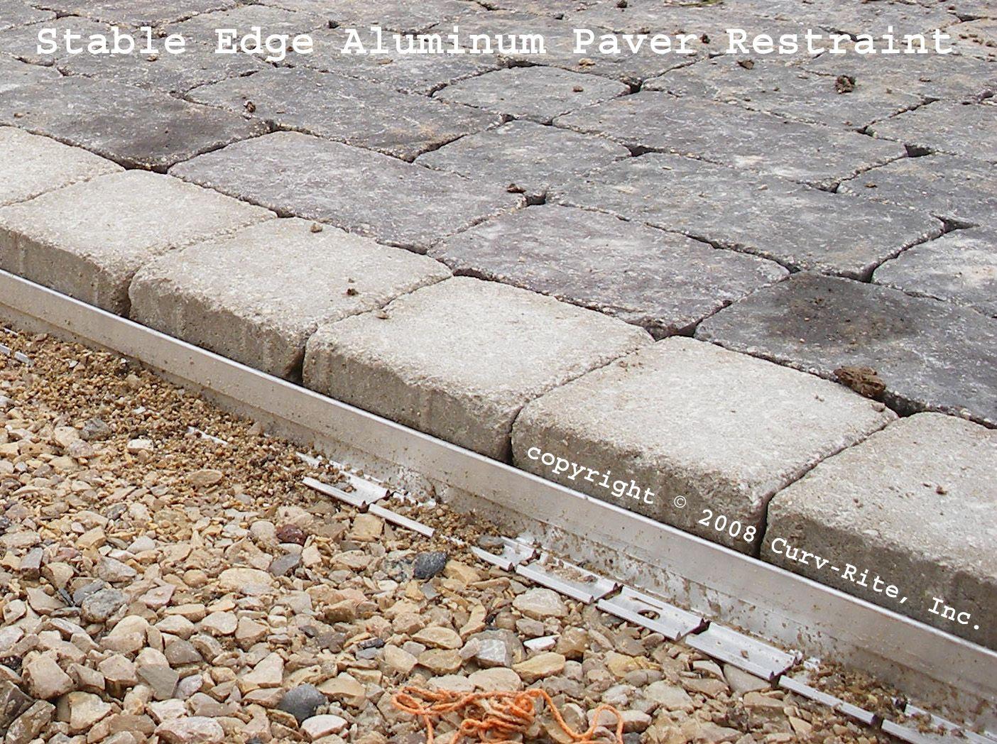 Stable Edge Aluminum Paver Restraint Garden Pavers Paver Edging Landscaping A Slope