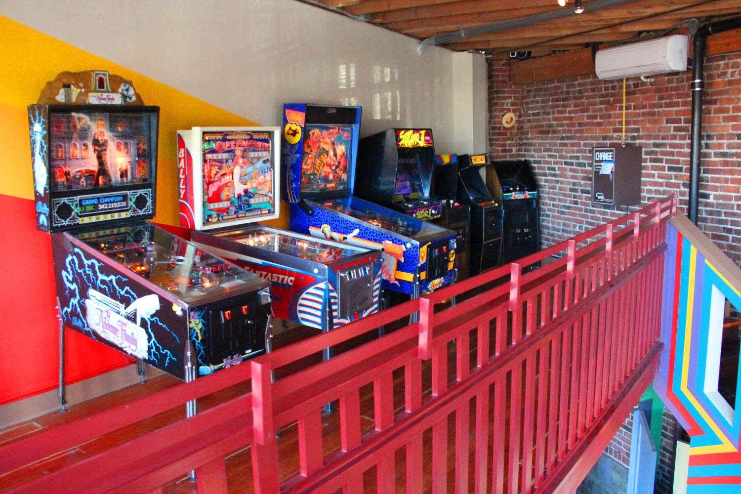 Is it an arcade or a bar? Yes! Arcade, Game room, Pinball