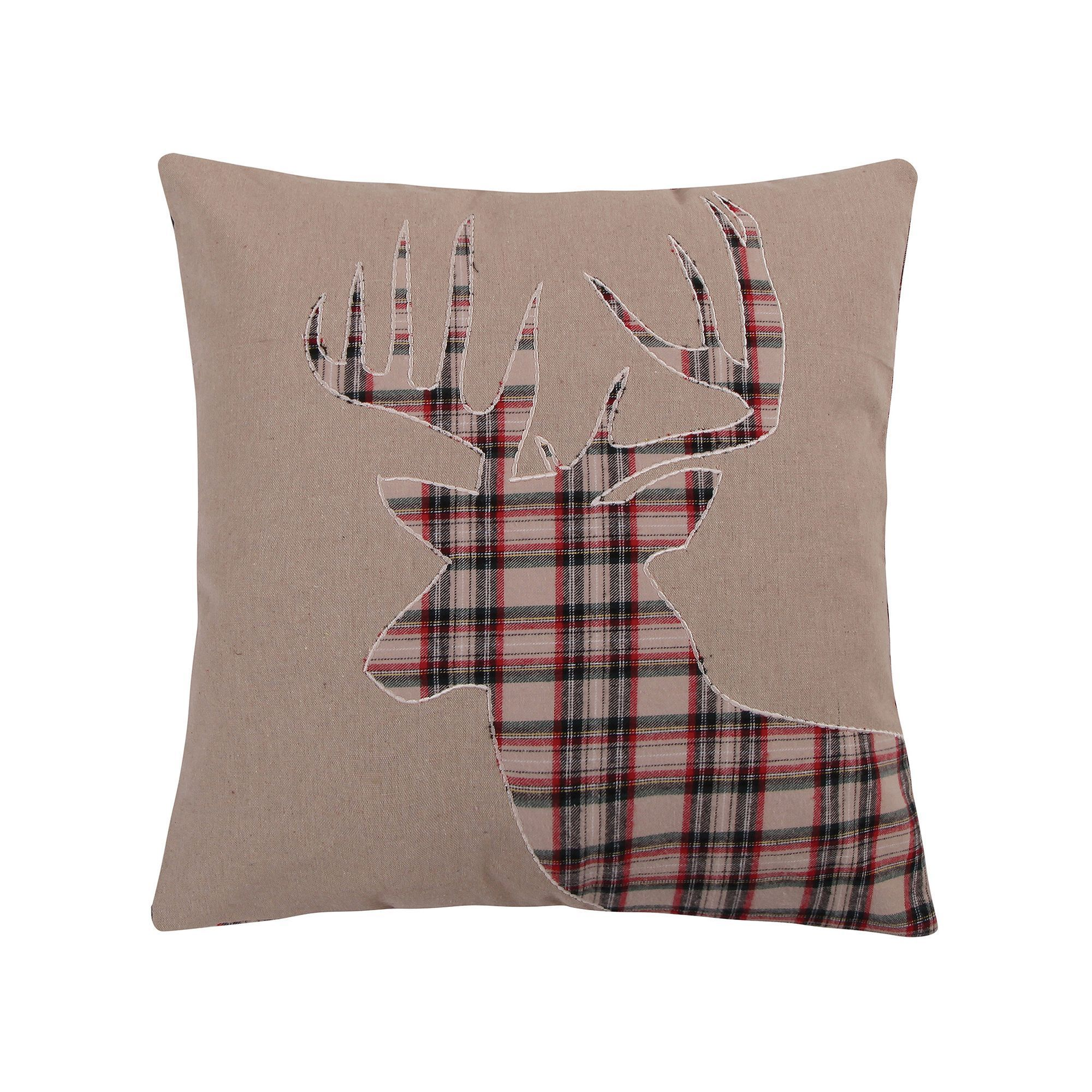 collectibles pillow more embroidered f hand sale id throws velvet black for furniture handmade textiles hunting in pillows master forest cushion at deer throw red scene with