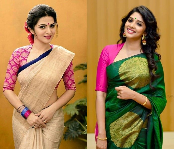 70c38334bb008 13 Incredible Collar Blouse Designs You Can Wear With Any Saree ...
