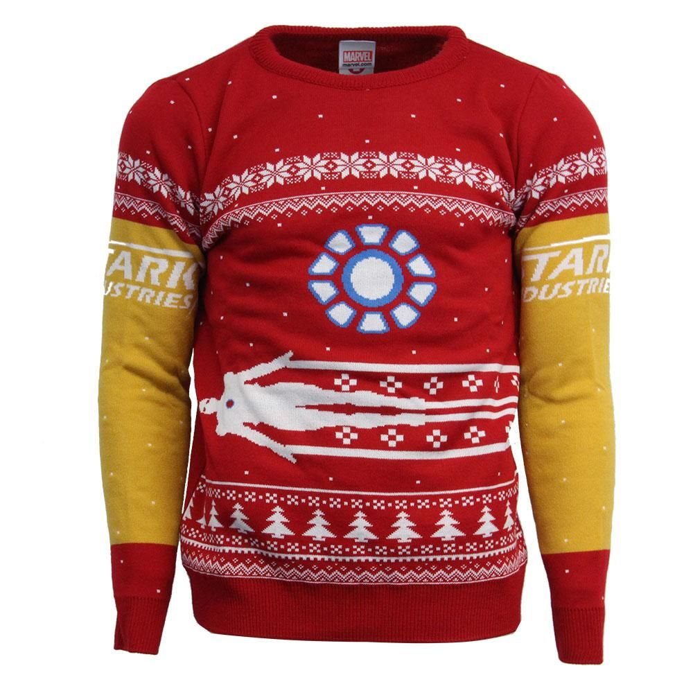 Official Marvel Iron Man Ugly Christmas Sweater Geekstore Us Us