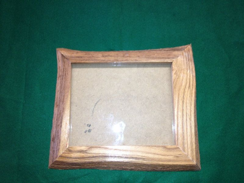 Rustic Oak Picture Frame With Live Edge For 8 X 10 Photo One Of A