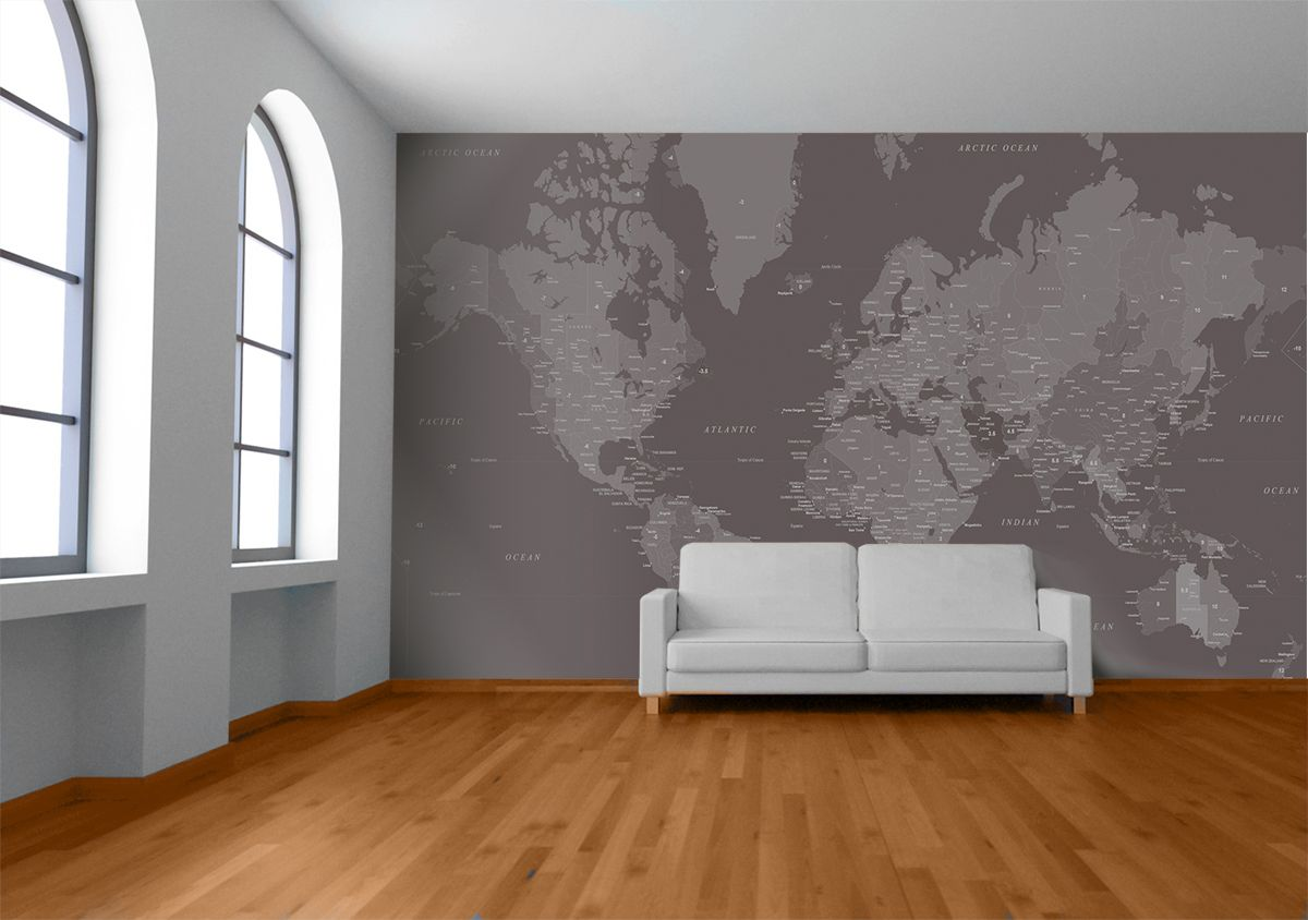 Black white inverted time zone world map wallpaper by watts london black white inverted time zone world map wallpaper by watts london made by watts london gumiabroncs Images