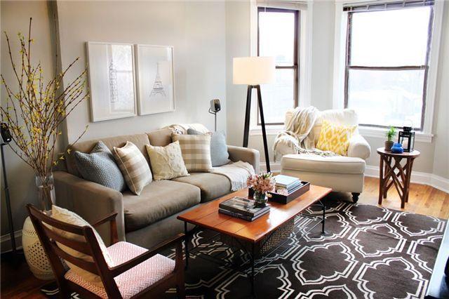 Gray Walls Tripod Floor Lamp West Elm Rug Eclectic Living Room Living Room Grey