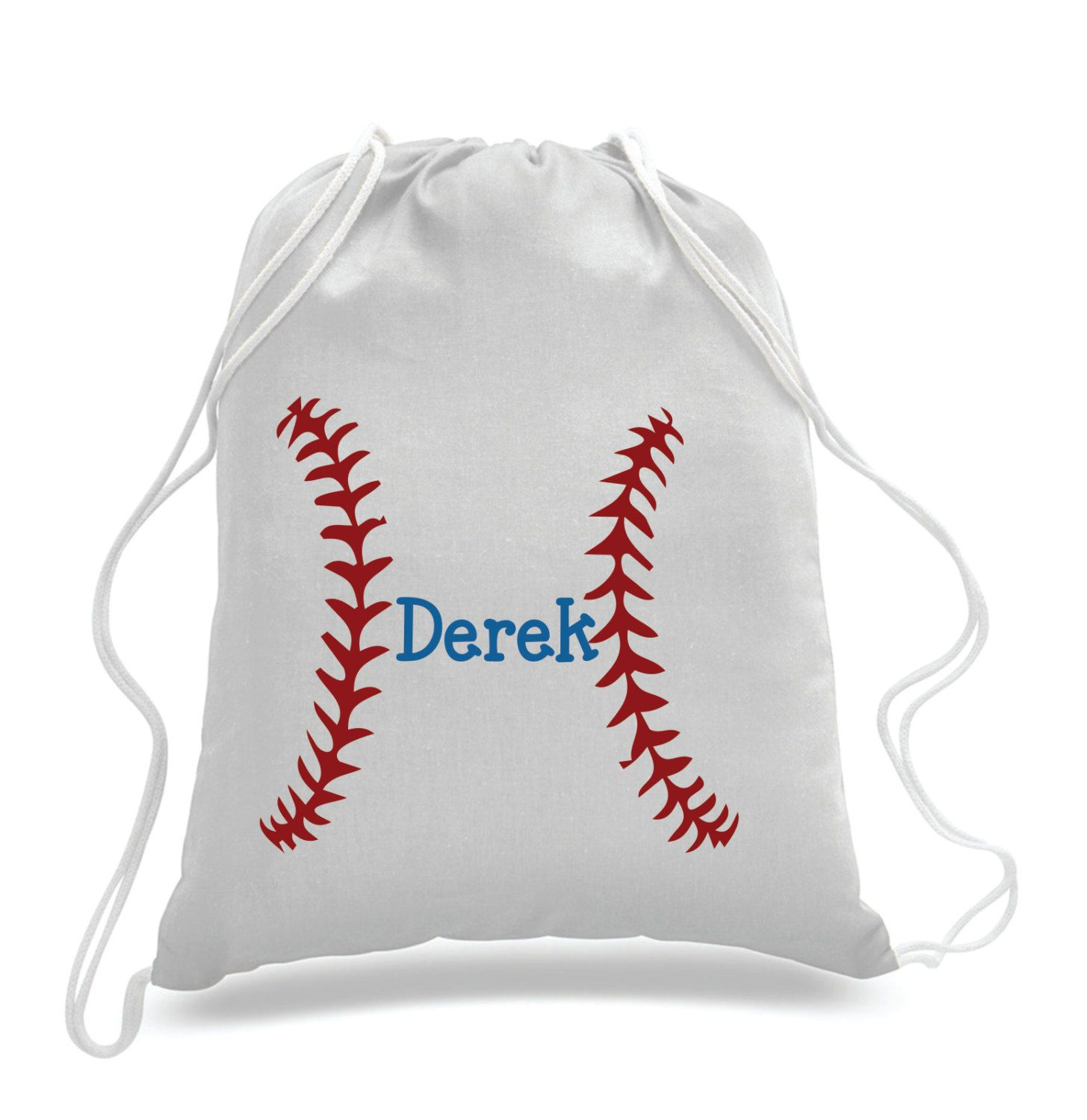 Personalized Baseball Design Kids Drawstring Bags Gym Bags Backpacks Swimbag Sports Bag By 5monkeysdesigns On Etsy Beisbol Party Accesorios