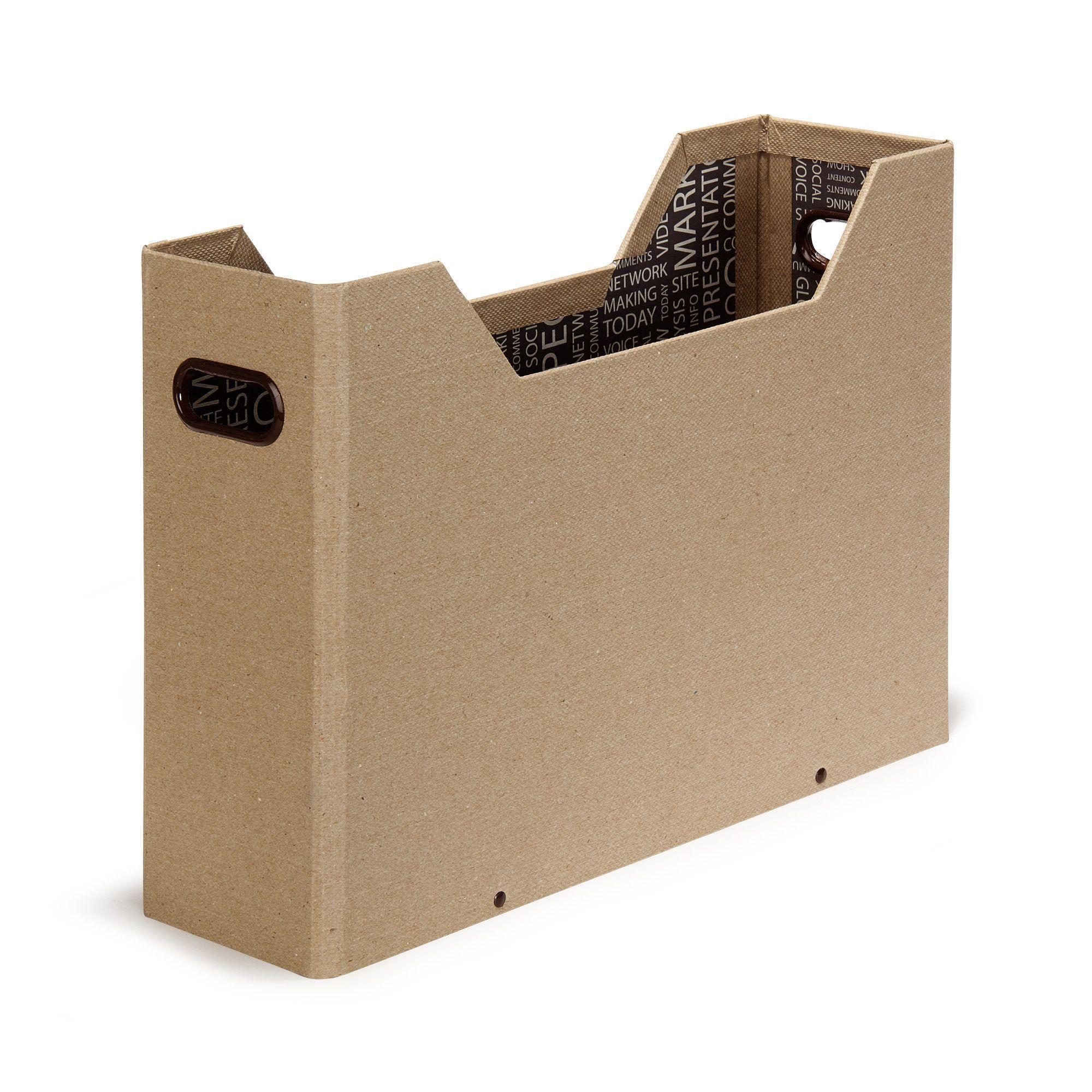 Range dossier 33X10X25cm Naturel - So Class - Les boites - Les accessoires et la papeterie ...