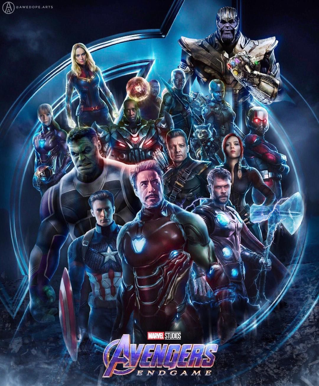 Avengers End Game Big Poster End Of Character Series