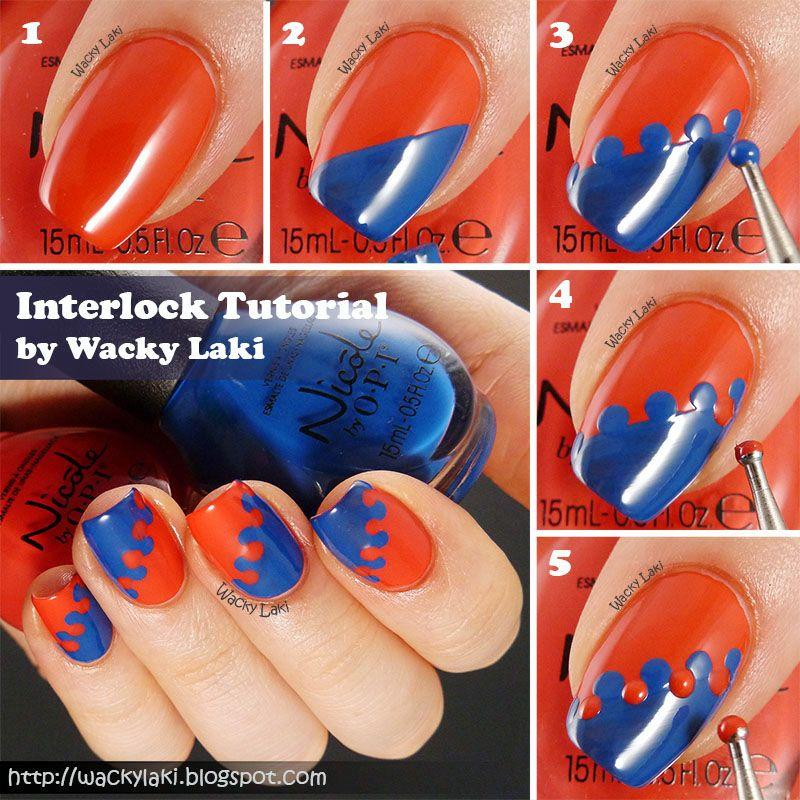 Wacky laki nail art tutorial interlock nail art techniques wacky laki nail art tutorial interlock prinsesfo Image collections