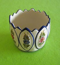 RCCL, Portugal, Hand Painted Floral Earthenware Cachepot