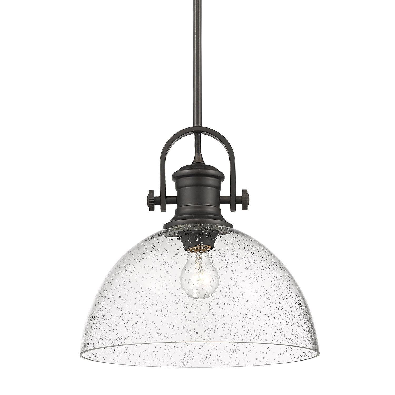Hines 13 Inch Large Pendant Capitol Lighting Seeded Glass Pendant Bronze Pendant Light Dome Pendant Lighting