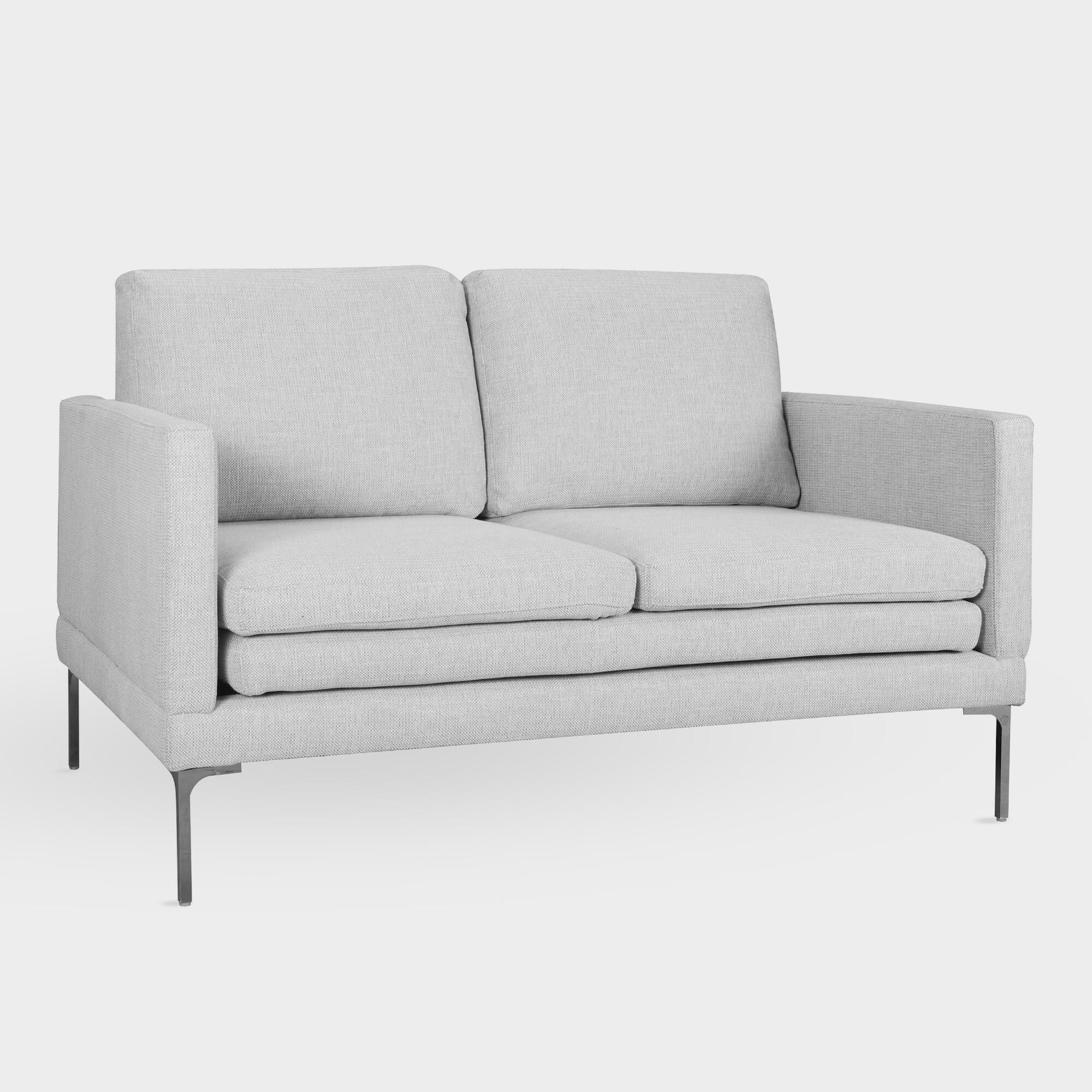 Phenomenal Dove Gray Gryffon Love Seat By World Market In 2019 Ncnpc Chair Design For Home Ncnpcorg