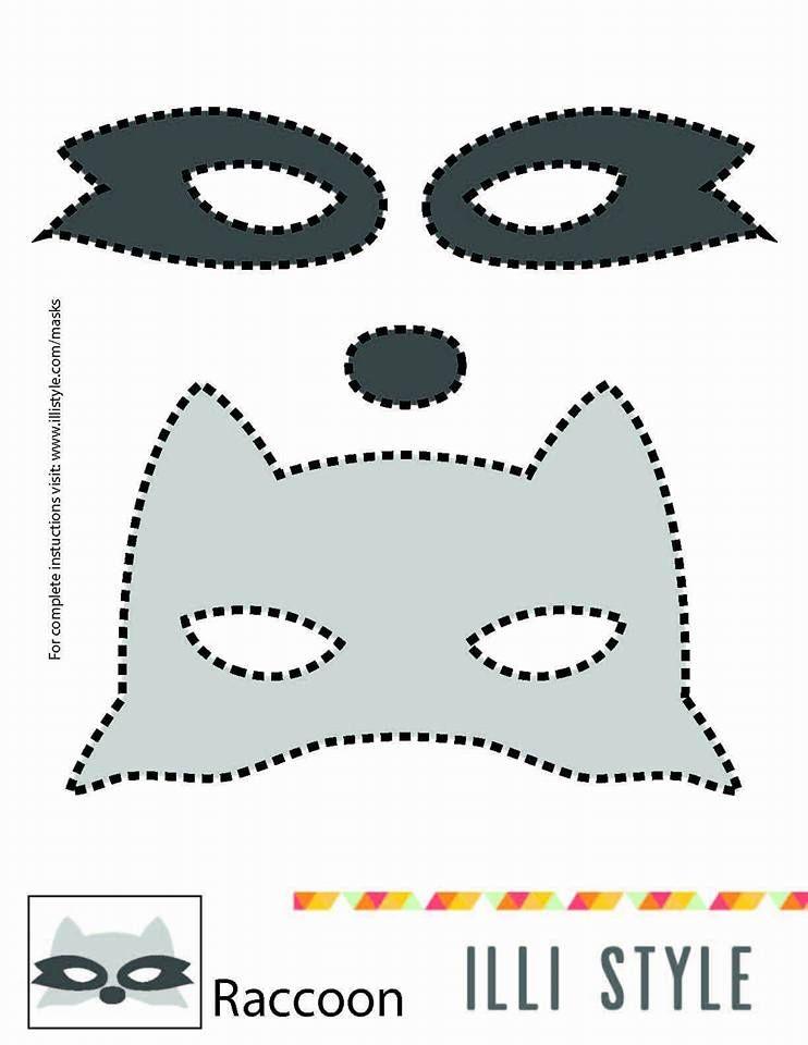 Racoon Felt Mask