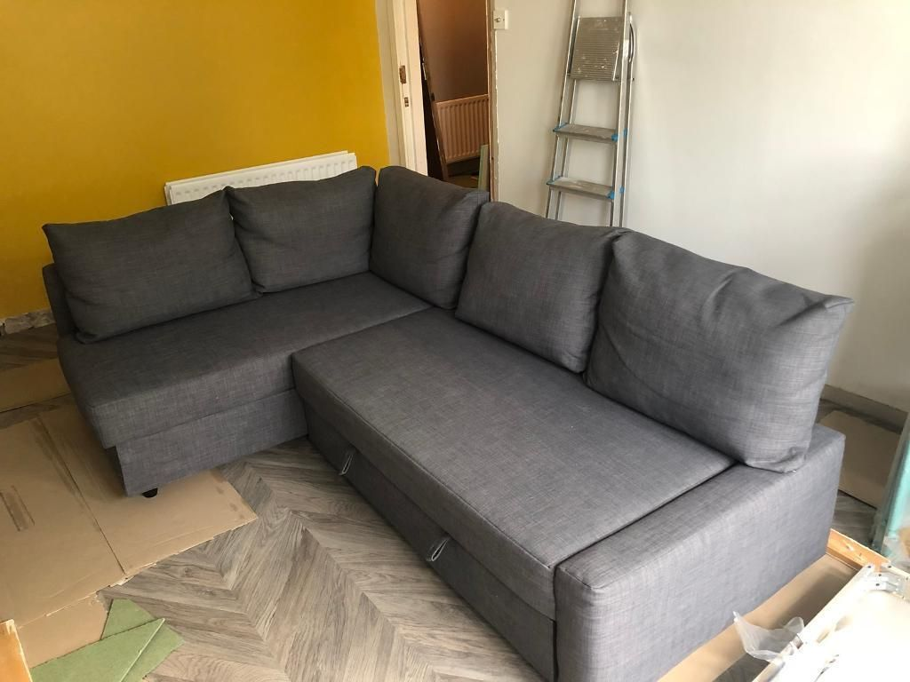 Bettsofa Ikea Friheten Ikea Friheten Sofa With 5 Cushions Rugs In 2019 Ikea Corner