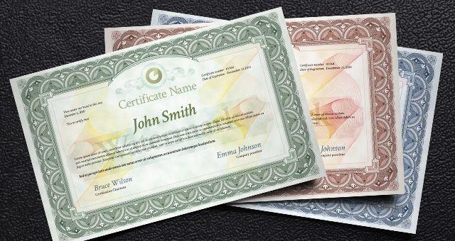 Free Certificate Design Psd Template Pinterest Free Certificates