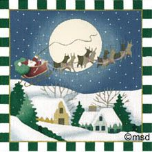 Melissa Shirley Designs | Hand Painted Needlepoint | Merry Christmas To All