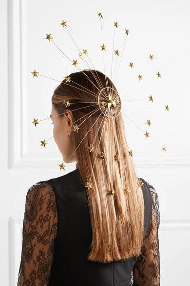 Gucci  Goldtone faux pearl hair slide is part of Hair accessories, Hair styles, Pearl hair, Hair, Wedding hair accessories, Hair slide - Made in Italy