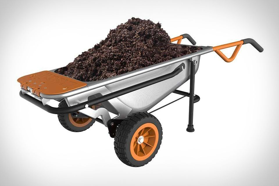 Worx Aerocart Wheelbarrow Garden Wheelbarrow Yard Cart