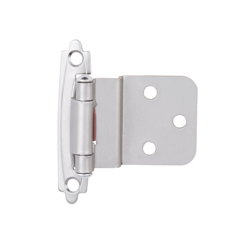 Liberty Satin Nickel Self Closing 3 8 In Inset Cabinet Hinge 5 Pairs H0104al Sn U1 The Home Depot In 2020 Hinges For Cabinets Inset Cabinet Hinges Inset Cabinets