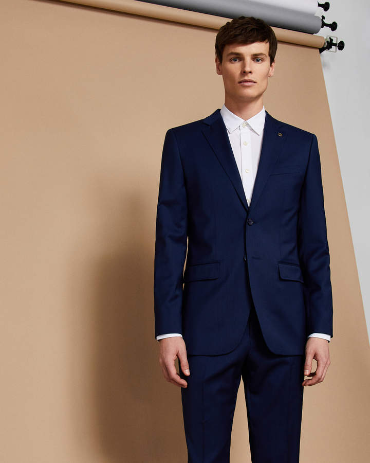6d5877d50 Ted Baker CASTLEJ Slim fit plain wool suit jacket in 2019