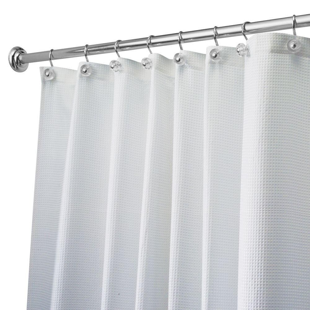 InterDesign Carlton Extra Wide Shower Curtain In White 23680