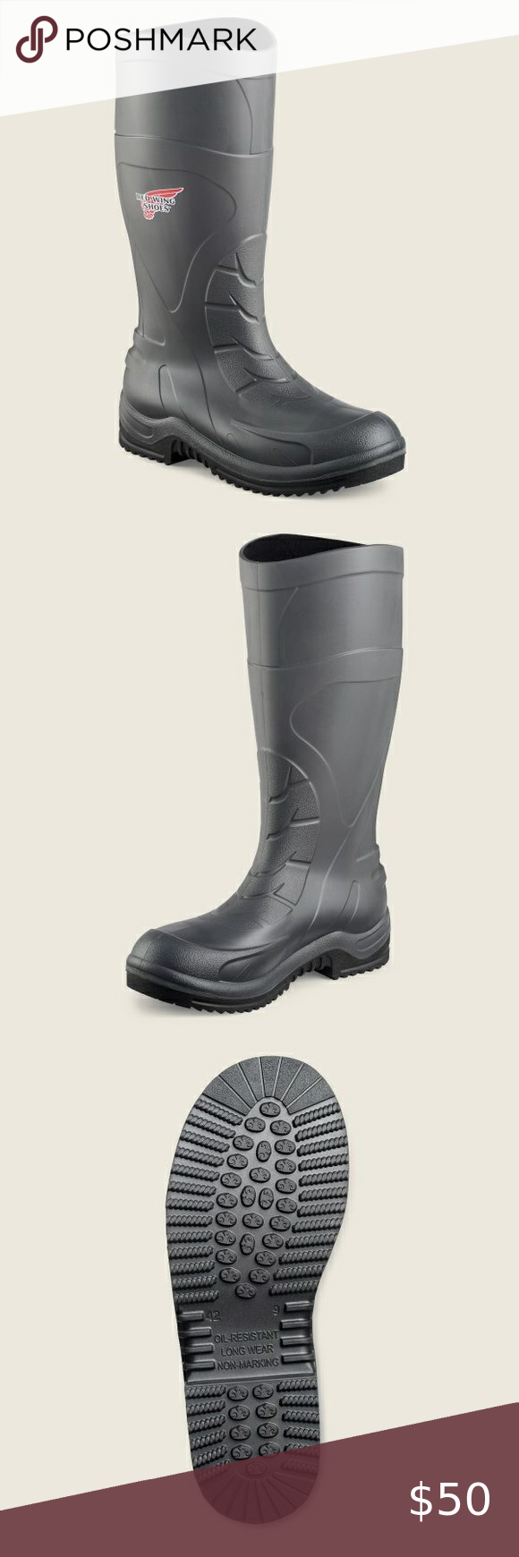 Red wing rubber boots model 59001 Steel