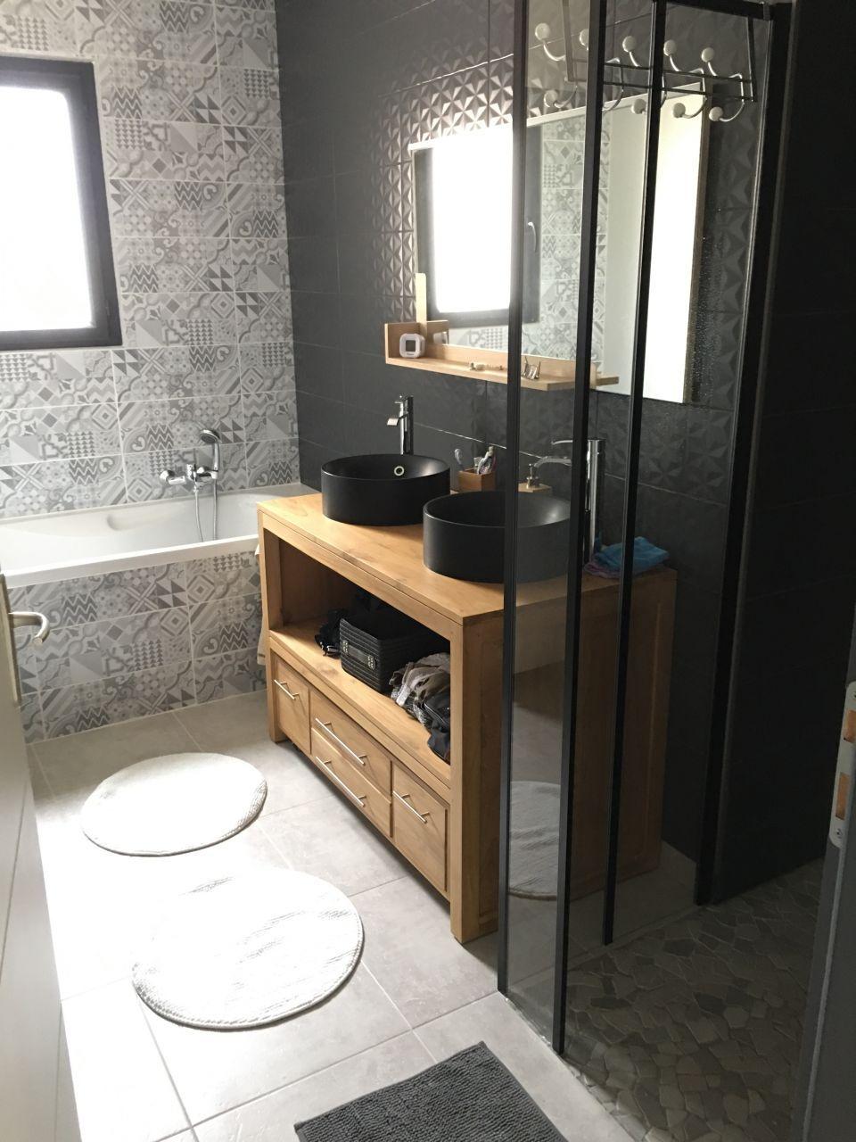 Salle de bains  Aménagement salle de bain, Salle de bains avec wc