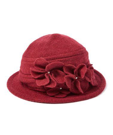 Loving this Burgundy Brim Cap on #zulily! #zulilyfinds