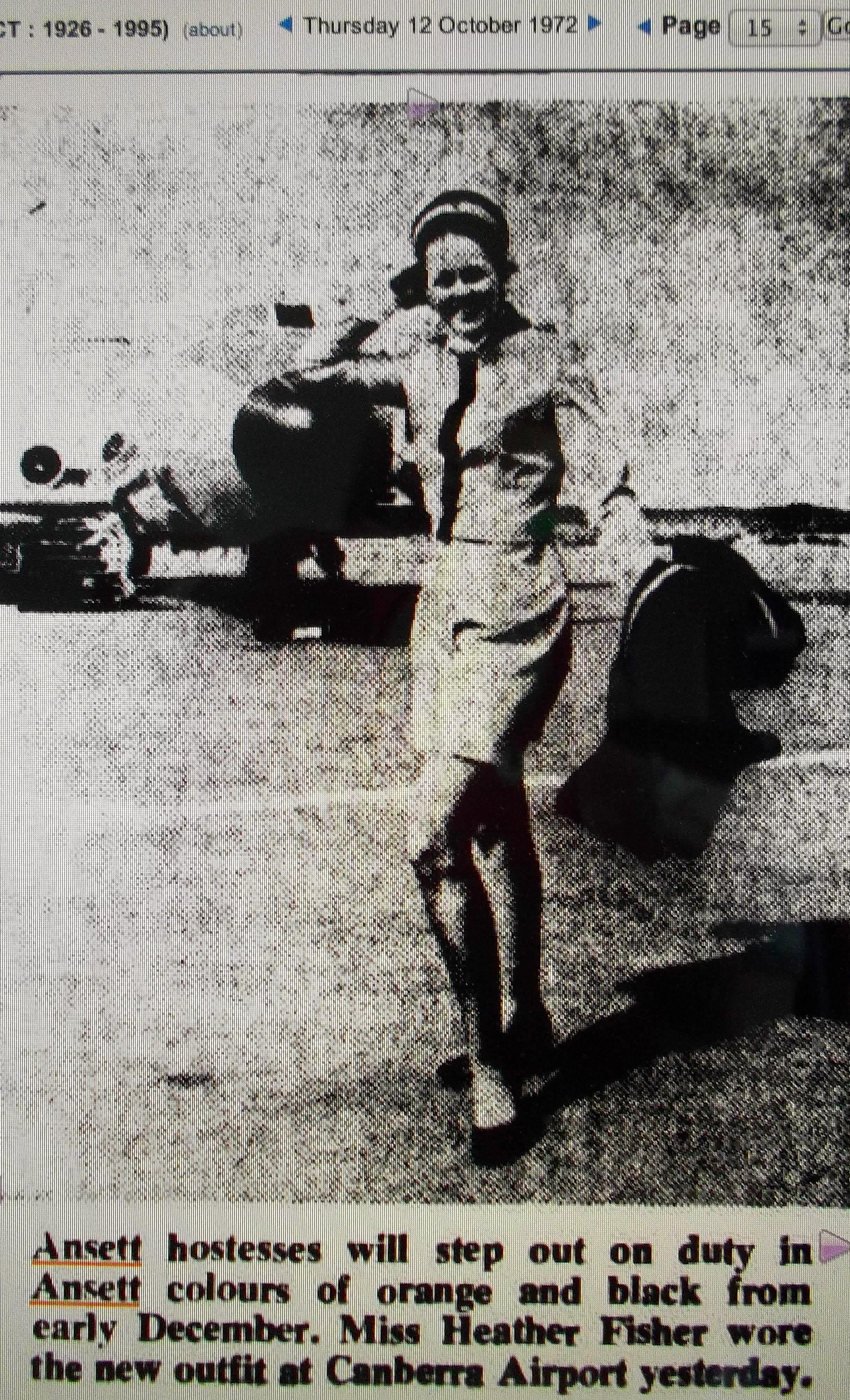 Ansett new uniform launch 1972 Canadian pacific, Fleet