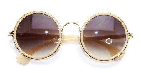 Fernyx Circular Sunglasses (Cream)
