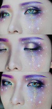 Galaxy Makeup von mollyeberwein auf DeviantArt  Halloween makeup diy